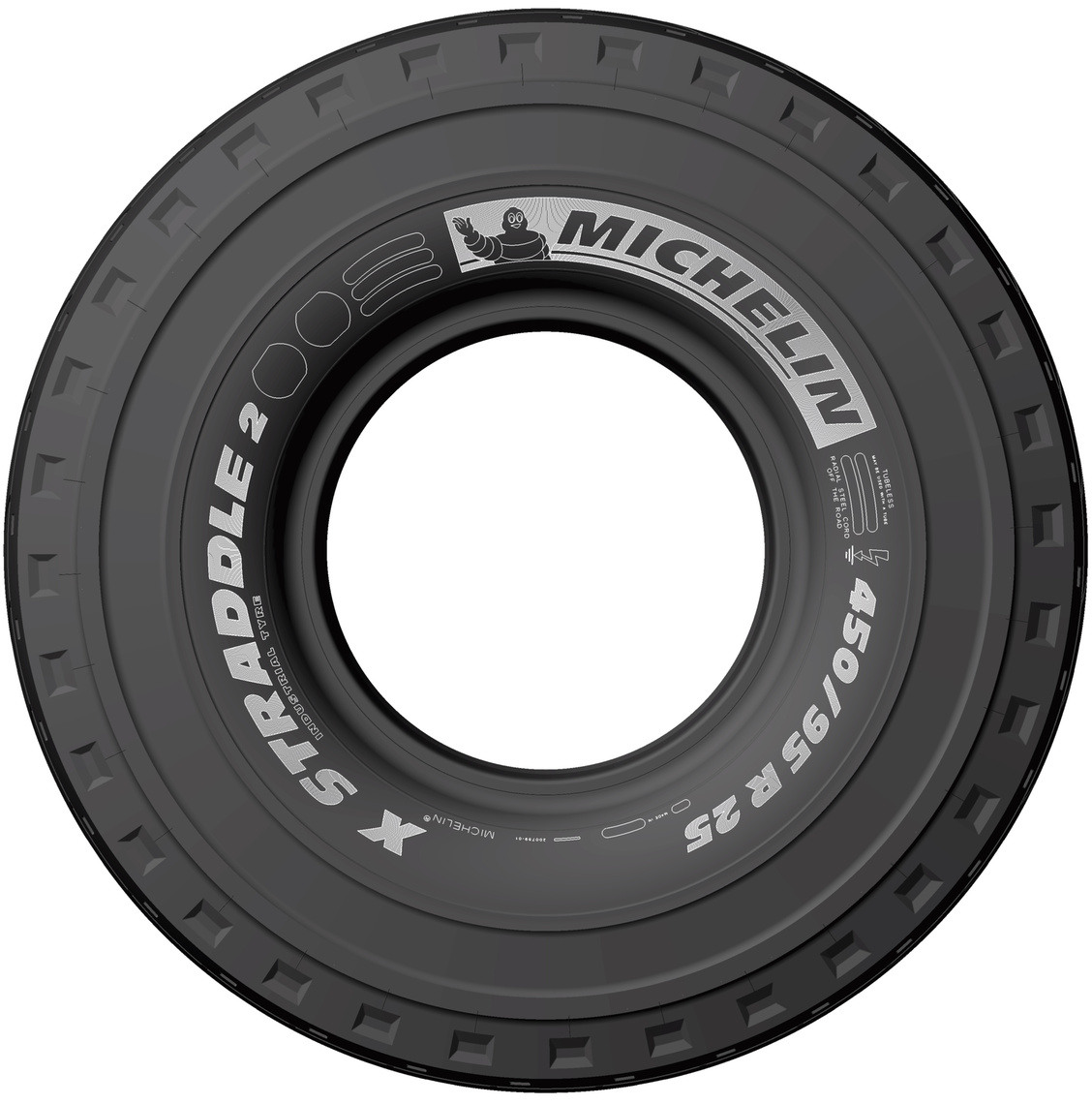MICHELIN X-STRADDLE 2 450/95 R25 Front
