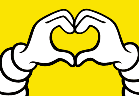 visuel contact hero image yellow bib heart