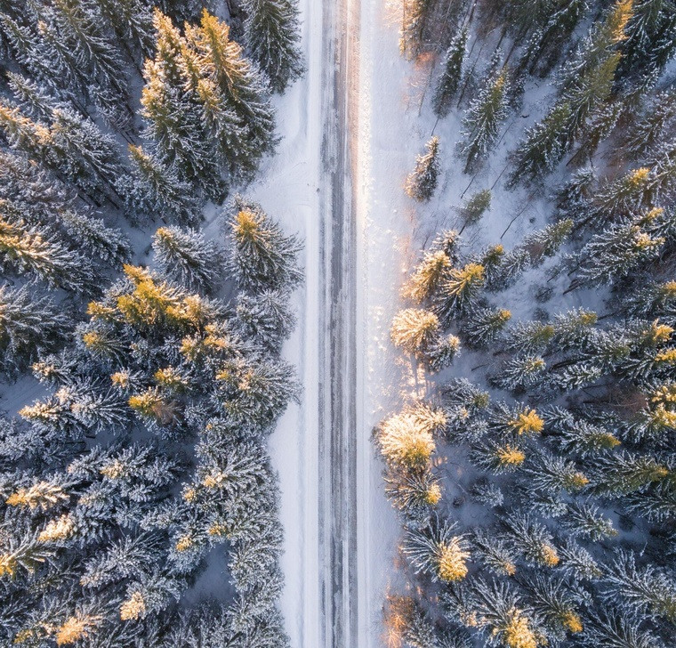 photo winter road