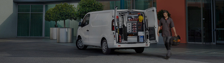 background photo van charging worker dark full corporate fleet