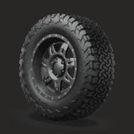 Ô tô Lốp xe all terrain ko2 1 two thirds Phối cảnh