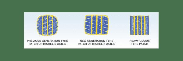 Auto Piktogram agilis durable compound patch Opony