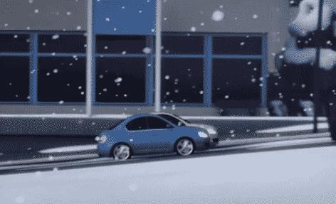 Kjøretøy Piktogram traction on snow Dekk