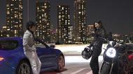 夜景ドライブを愉しむ原田氏と華さん