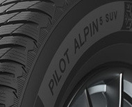 Auto Éditorial pilot alpin 5 suv techno 3 sidewall Pneus