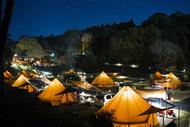 グランピングサイト夜景