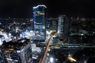 渋谷風景夜 shibuya sky