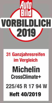 2019 Autobild Vorbildlich CrossClimte +