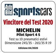 Vincitore del test AutoBild SportsCars - Ed. 04/2020