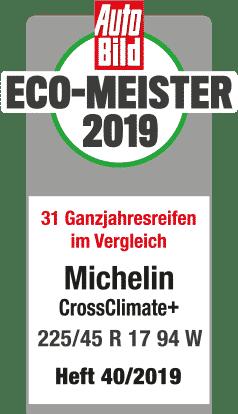michelin crossclimateplus testlogo autobild eco meister 2019 238x414px