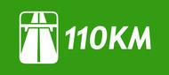 110km logo