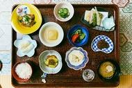 身延山の宿坊 端場坊の精進料理の夕食
