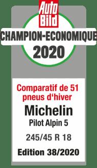 2020 AutoBild Champion Economique Pilot Alpin 5