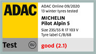 Michelin Pilot Alpin 5 ADAC 2020
