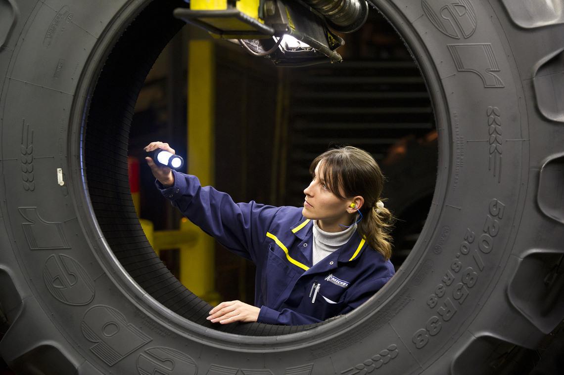 Inspection pneu Kleber agricole