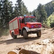 photo mercedes unimog fire truck